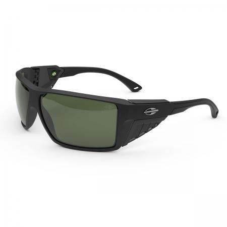 Óculos Solar Mormaii Side Shield m0121a1489 Preto Fosco Lente Polarizada Verde