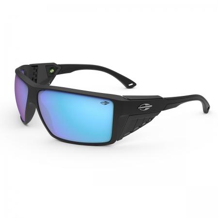 Óculos Solar Mormaii Side Shield m0121a1497 Preto Fosco Lente Espelhada Azul