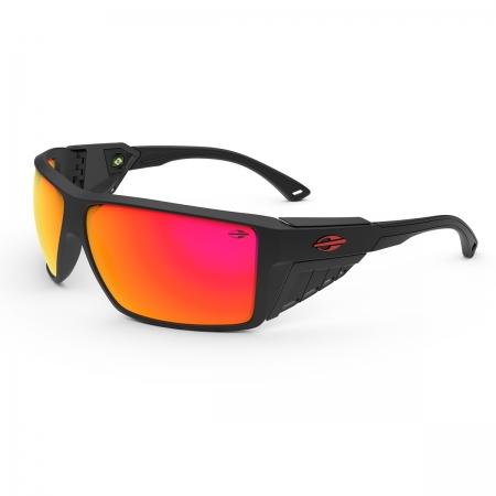 Óculos Solar Mormaii Side Shield m0121a8511 Preto Fosco Lente Espelhada Vermelho