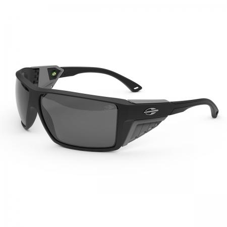Óculos Solar Mormaii Side Shield m0121abc03 Preto Fosco Lente Polarizada Cinza