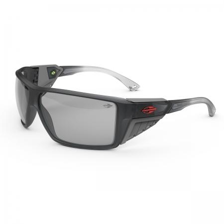 Óculos Solar Mormaii Side Shield m0121dk209 Cinza Translúcido  Lente Espelhada Cinza