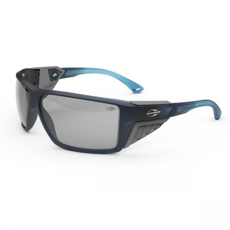 Óculos Solar Mormaii Side Shield m0121kcq09 Azul Fosco Lente Espelhada Cinza