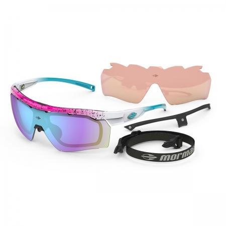 Óculos Solar Mormaii Smash 2 M0130bb297 Rosa Brilho Lente Espelhada Azul