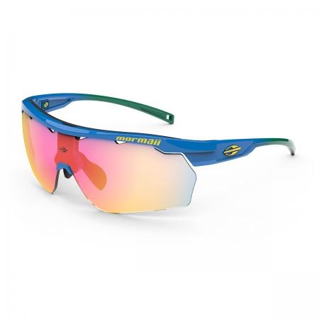 Óculos Solar Mormaii Smash M0129kcy11 Azul Brilho  Lente Espelhada Vermelho