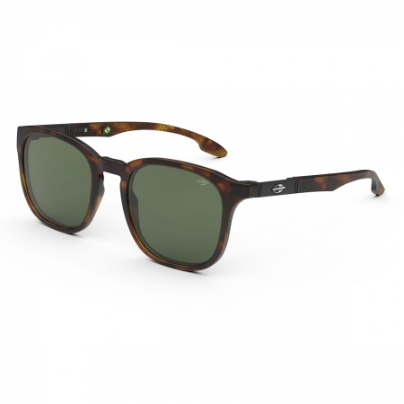Óculos Solar Mormaii Vancouver m0122f3971 Marrom Translúcido Demi Lente  Verde
