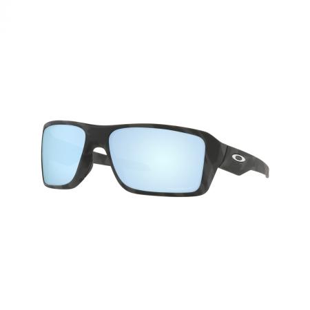 Óculos Solar Oakley Double Edge oo9380 27 66 Preto Camuflado Lente Azul Polarizada