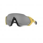 Oculos Solar Oakley Flight Jacket OO9401 2237 Dourado Prata Lente Preta Prizm