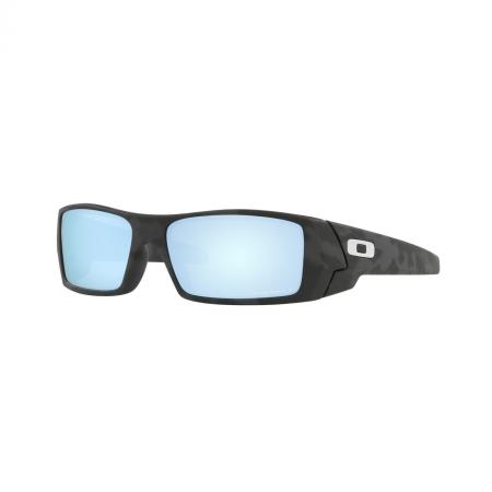 Óculos Solar Oakley Gascan oo9014 81 60 Preto Camuflado Lente Azul Polarizada