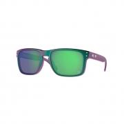 Óculos Solar Oakley Holbrook oo9102 t455 57 Roxo  Lente Verde Prizm