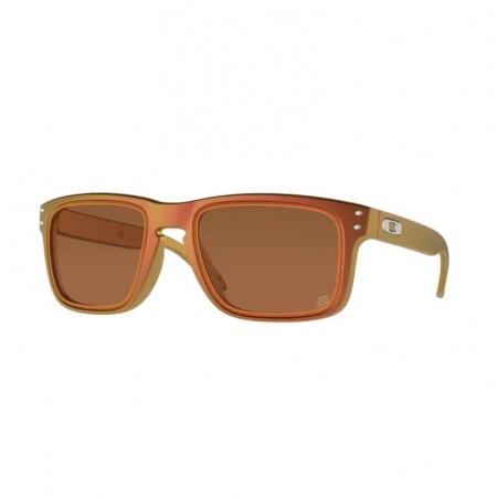 Óculos solar oakley holbrook oo9102 t5 vermelho fosco  lente prizm vermelho