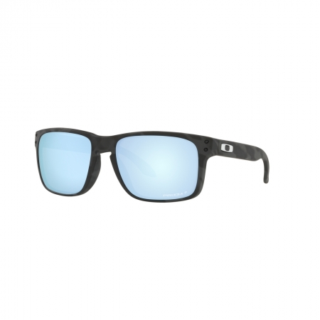 Óculos Solar Oakley Holbrook oo9102 t9 55 Preto Havana Lente Azul Espelhada
