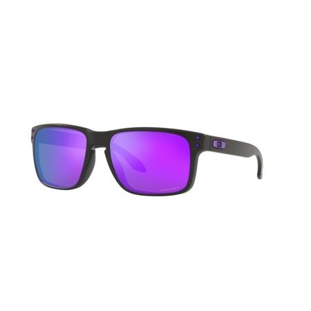 Óculos Solar Oakley Holbrook oo9102l k6 55 Preto  Lente Violeta Espelhada