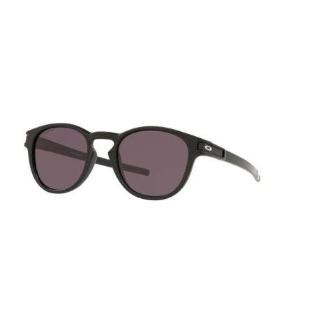 Óculos Solar Oakley Latch oo9265l 56 53 Preto  Lente Cinza Espelhada