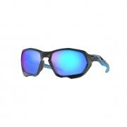 Óculos Solar Oakley Plazma oo9019 0859 59 Preto  Lente Azul Polarizada