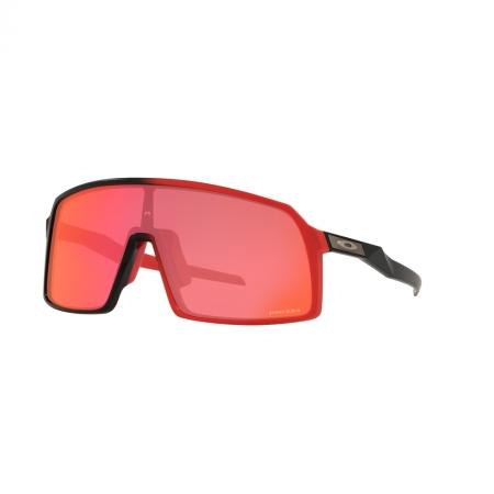 Óculos solar oakley sutro oo9406 51 vermelho fosco  lente prizm vermelho