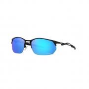 Óculos Solar Oakley Wire Tap 2.0 oo4145 04 60 Preto  Lente Azul Espelhada