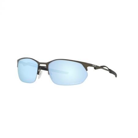 Óculos Solar Oakley Wire Tap 2.0 oo4145 06 60 Grafite  Lente Azul Polarizada