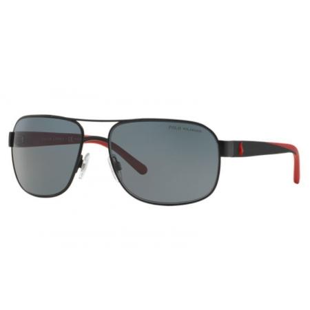 Óculos Solar Polo Ralph Lauren Ph3093 927781 62 Preto Lente Cinza Polarizada