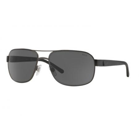 Óculos Solar Polo Ralph Lauren Ph3093 928887 62 Preto Fosco Lente Cinza