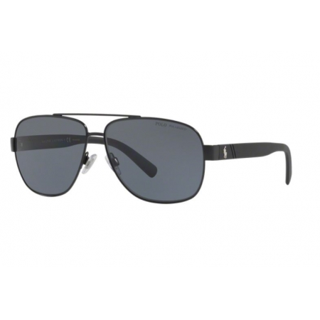 Óculos Solar Polo Ralph Lauren Ph3110 926781 60 Preto Fosco Lente Cinza Polarizada