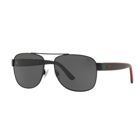 Óculos Solar Polo Ralph Lauren Ph3122 903887 59 Preto Fosco Lente Cinza