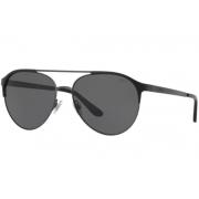 Óculos Solar Polo Ralph Lauren Ph3123 936587 60 Preto Fosco Lente Cinza