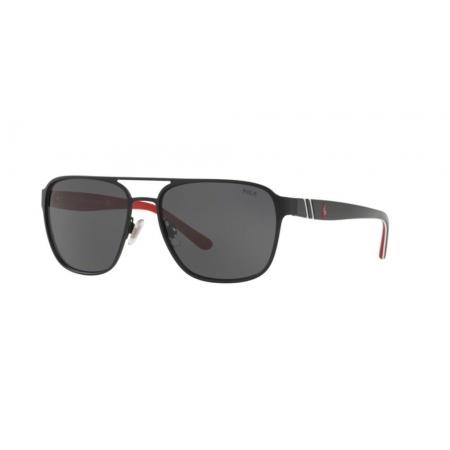 Óculos Solar Polo Ralph Lauren Ph3125 903887 57 Preto Fosco Lente Cinza