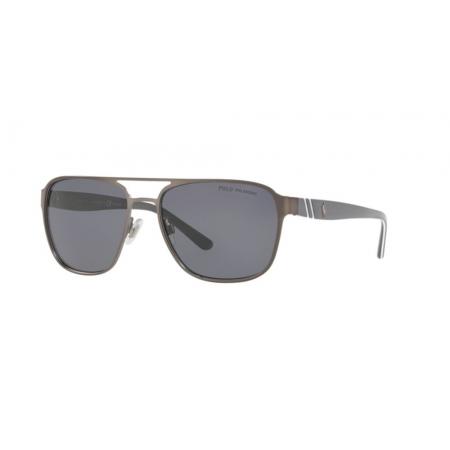 Óculos Solar Polo Ralph Lauren Ph3125 905081 57 Grafite Lente Cinza Polarizada