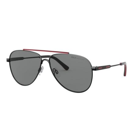 Óculos Solar Polo Ralph Lauren Ph3126 900381 60 Preto Brilho Lente Cinza Polarizada