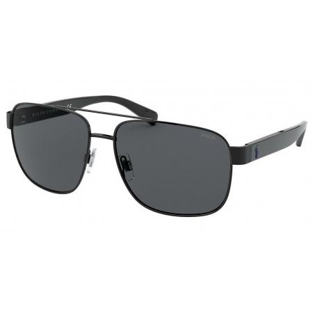 Óculos Solar Polo Ralph Lauren Ph3130 900387 59 Preto Brilho Cinza