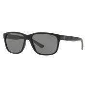 Óculos Solar Polo Ralph Lauren Ph4142 528487 Preto Fosco Lente Cinza