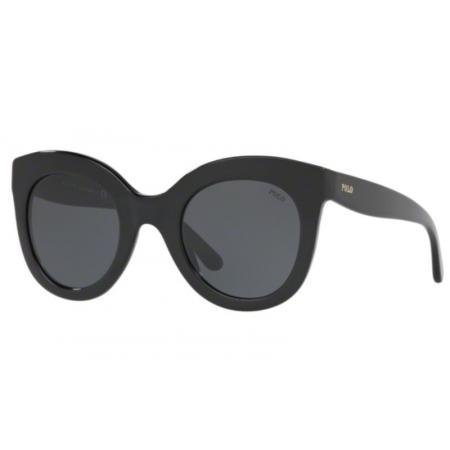 Óculos Solar Polo Ralph Lauren Ph4148 500187 49 Preto Brilho Lente Cinza