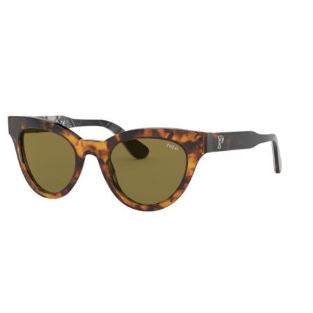 Óculos Solar Polo Ralph Lauren Ph4157 530373 49 Marrom Tartaruga Lente Verde