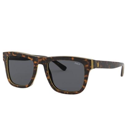 Óculos Solar Polo Ralph Lauren Ph4161 582787 52 Marrom Havana Amarelo Lente Cinza