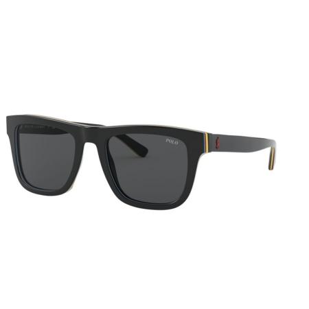 Óculos Solar Polo Ralph Lauren Ph4161 582887 52 Preto Brilho Lente Cinza