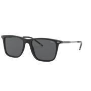 Óculos Solar Polo Ralph Lauren Ph4163 500187 54 Preto Brilho Lente Cinza