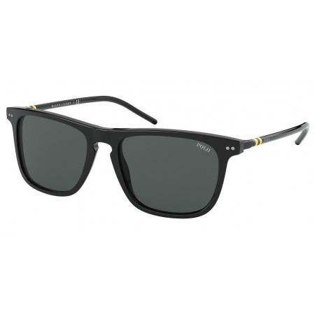 Óculos Solar Polo Ralph Lauren Ph4168 500187 53 Preto Brilho Lente Cinza