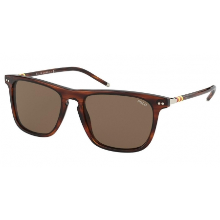 Óculos Solar Polo Ralph Lauren Ph4168 500773 53 Marrom Havana Brilho Lente Marrom