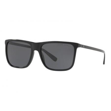 Óculos Solar Ralph Lauren Rl8157 500187 58 Preto Brilho Lente Cinza