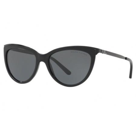 Óculos Solar Ralph Lauren Rl8160 500187 56 Preto Brilho Lente Cinza
