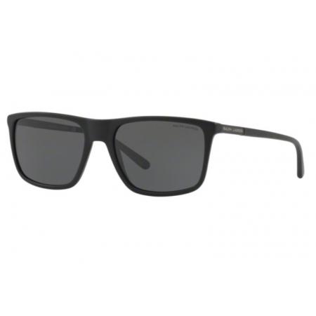 Óculos Solar Ralph Lauren Rl8161 565387 58 Preto Fosco Lente Cinza