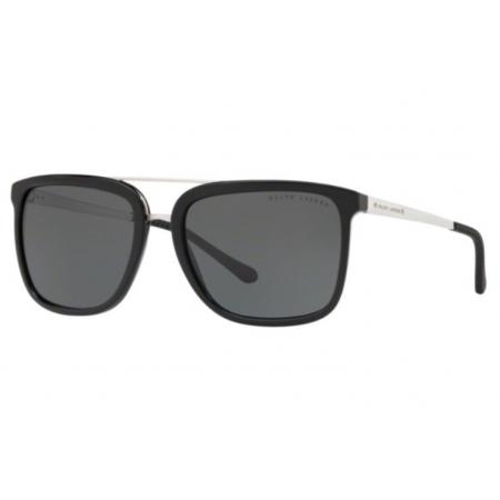 Óculos Solar Ralph Lauren Rl8164 500187 58 Preto Brilho Lente Cinza