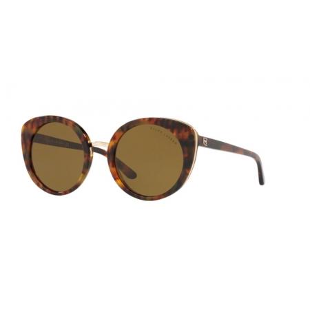 Óculos Solar Ralph Lauren Rl8165 501773 52 Marrom Havana Lente Verde