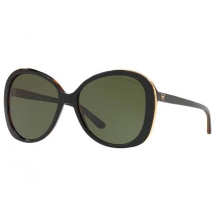 Óculos Solar Ralph Lauren Rl8166 526071 57 Preto Lente Verde G15