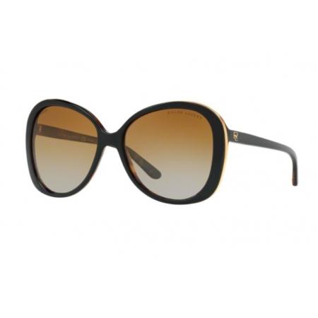 Óculos Solar Ralph Lauren Rl8166 5260t5 57 Preto Lente Marrom Degradê