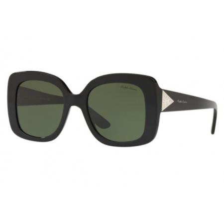 Óculos Solar Ralph Lauren Rl8169 500171 51 Preto Brilho Lente Verde G15