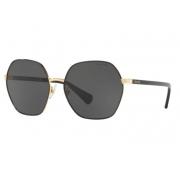 Óculos Solar Ralph Ra4124 933787 60 Preto Dourado Lente Cinza