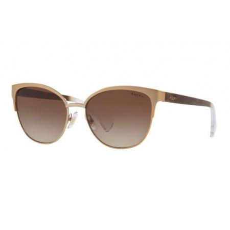Óculos Solar Ralph Ra4127 933613 56 Dourado Rosê Lente Marrom Degradê