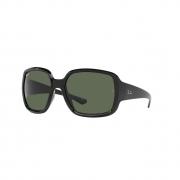 Óculos Solar Ray Ban Powderhorn rb4347 601-71  60 Preto  Lente Verde Convencional