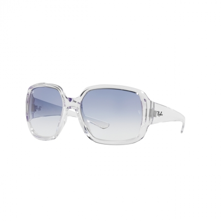 Óculos Solar Ray Ban Powderhorn rb4347 632519 60 Transparente  Lente Azul Degradê